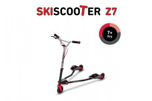 SMART TRIKE - koloběžka 222 Ski Scooter Z7 červená Koloběžky