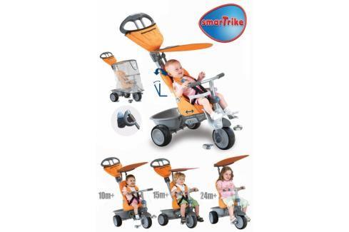 SMART TRIKE - Recliner kočárek - oranžový Tříkolky pro děti