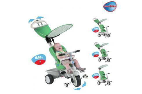SMART TRIKE - Recliner kočárek - zelený Tříkolky pro děti