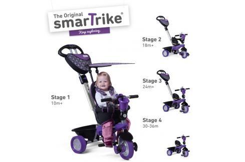 SMART TRIKE - tříkolka 159 Dream Team 4v1 Fialovo-černá Tříkolky pro děti