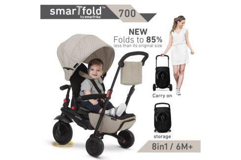 SMART TRIKE - tříkolka 700 Fold 8v1 Béžová Tříkolky pro děti