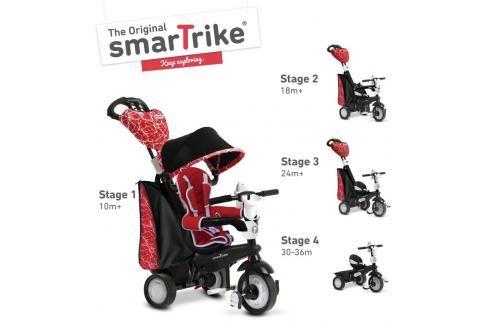 SMART TRIKE - tříkolka 810 Chic 4v1 Červeno-černá Tříkolky pro děti