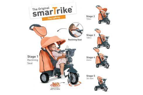 SMART TRIKE - Tříkolka Explorer 5 v 1, oranžová Tříkolky pro děti
