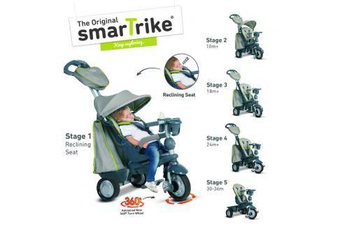 SMART TRIKE - Tříkolka Explorer 5 v 1, šedá Tříkolky pro děti