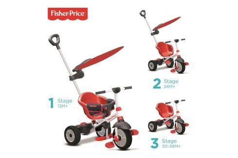 SMART TRIKE - tříkolka Fisher Price 325 Charm Plus 3v1 Červená Tříkolky pro děti