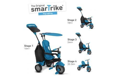 SMART TRIKE - Tříkolka Glow 4 v 1, modrá Tříkolky pro děti