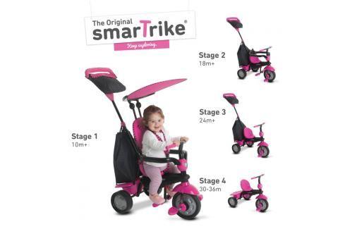 SMART TRIKE - Tříkolka Glow 4 v 1, růžová Tříkolky pro děti