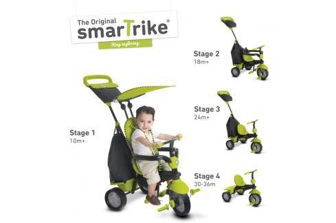SMART TRIKE - Tříkolka Glow 4 v 1, zelená Tříkolky pro děti