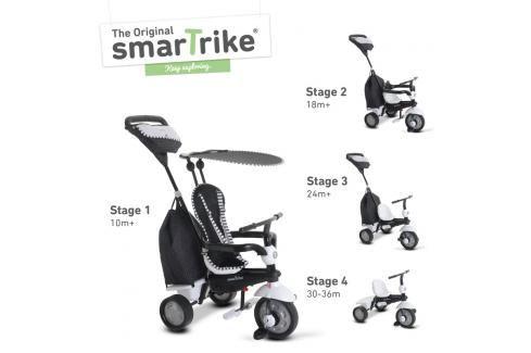 SMART TRIKE - Tříkolka Glow 4v1, černo-bílá Tříkolky pro děti