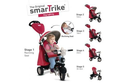 SMART-TRIKE - tříkolka 840 Recliner Infinity 5v1Černeno-šedá Tříkolky pro děti