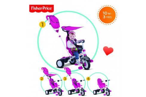 SMART-TRIKE - tříkolka Fisher Price 320 Charisma 4v1 Růžová Tříkolka pro děti