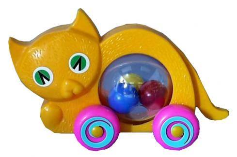 SMĚR - Kočka s míčkem Hračky pro děti 12m+ až 18m+