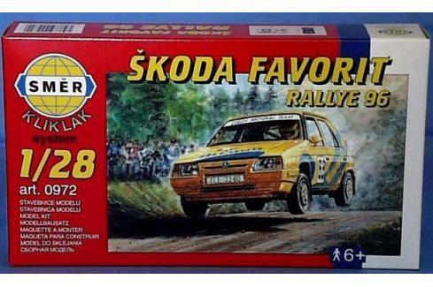 SMĚR - MODELY - Škoda Favorit Rallye 96 1:28 Letadélka