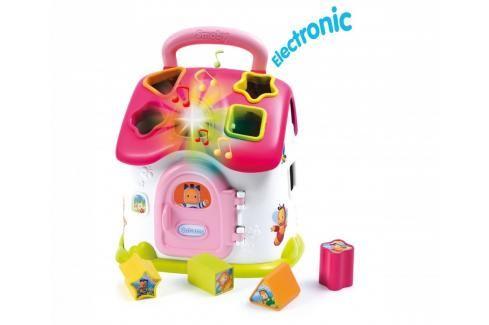 SMOBY - 110402 Cotoons Domeček - vkládačka se světlem a zvukem, růžový Naučné hračky