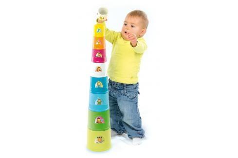 SMOBY - 110407 Cotoons Skládací pyramida kelímky Naučné hračky