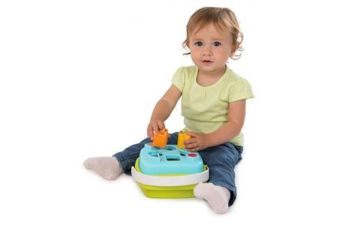 SMOBY - 110410 Cotoons Vkládačka košík, modrý Naučné hračky