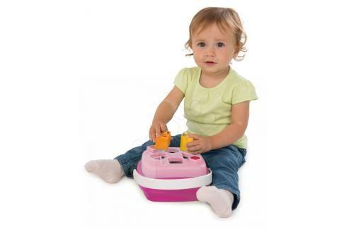 SMOBY - 110411 Cotoons Vkládačka košík, růžový Naučné hračky