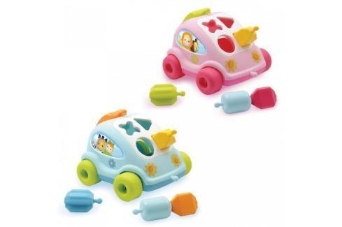 SMOBY - 211118 Cotoons Autíčko - vkládačka 2 druhy Naučné hračky