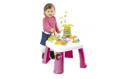 SMOBY - 211170 Cotoons multifunkční stolek stolek se světlem a zvukem, růžový Interaktivní hračky