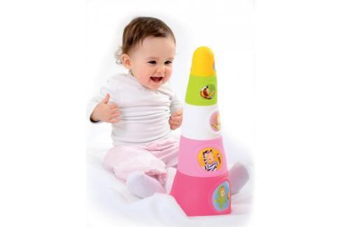 SMOBY - 211317 Cotoons Veselá pyramida 2 druhy Naučné hračky