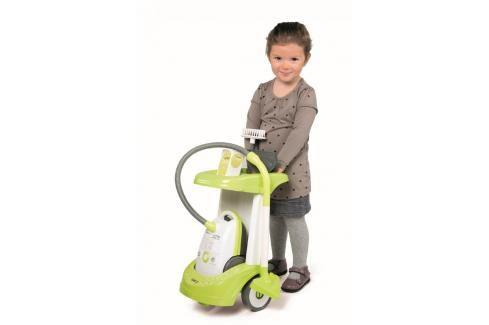 SMOBY - 24406 Úklidový vozík s vysavačem Rowenta Hrajeme se na profese
