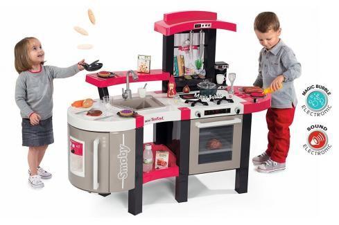 SMOBY - 311304 Kuchyňka Super Cheff Deluxe elektronická červená Hrajeme se na profese