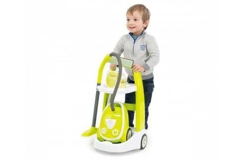 SMOBY - 330301 Úklidový vozík s vysavačem se zvukem Hrajeme se na profese