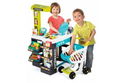 SMOBY - 350206 Obchod Supermarket s čtečkou karet a vozíkem Hrajeme se na profese
