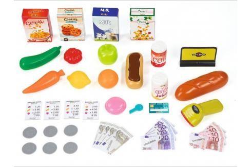 SMOBY - 350210 Obchod Supermarket s čtečkou karet a vozíkem červený Hrajeme se na profese