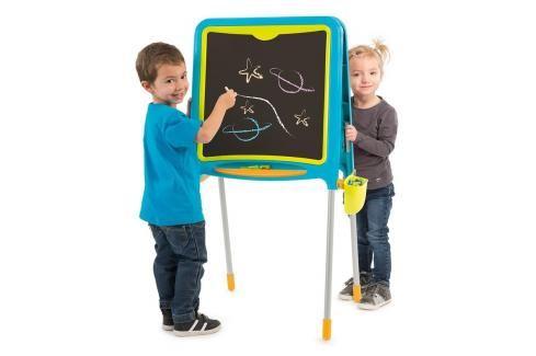 SMOBY - 410304 Magnetická oboustranná tabule Tubes modrá Hrajeme se na školu