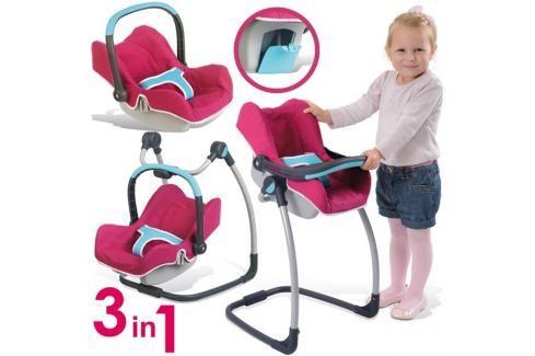 SMOBY - Autosedačka a židle 240226 Maxi Cosi Quinny 3v1 Péče o panenky