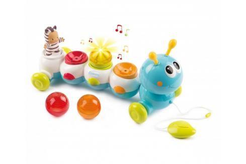 SMOBY - Cotoons 110422 Tahací housenka Caterpillar se světlem a zvukem Zvukové a svítící hračky
