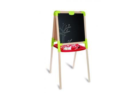 SMOBY - Dřevěná Tabule Na Kreslení 2V1, Stojací Kreativní a výtvarné hračky