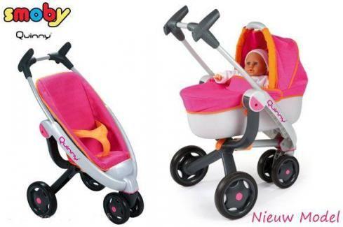SMOBY - kombinovaný kočárek Quinny 550190 Kočárky pro panenky