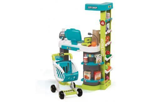 SMOBY - Obchod City Shop modro-zelený Malí pomocníci