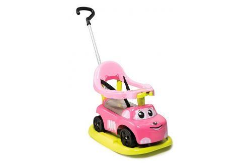 SMOBY - odrážedlo 720614 Auto Ride-on Rocking Růžové 4v1 electronic s houpačkou Odrážedla - 4 kola