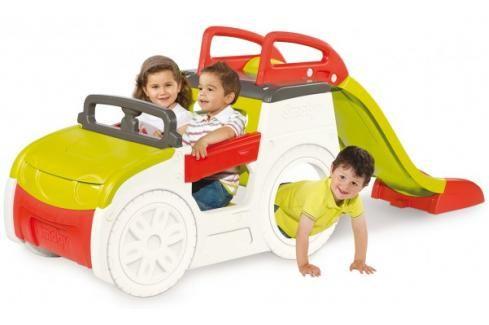 SMOBY - prolézačka Adventure Car s pískovištěm a skluzavkou 840200 Dětská hřiště