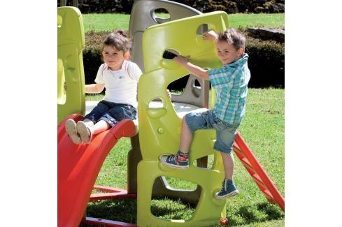 SMOBY - prolézačka Multi-Activity Tower s tyčí a skluzavkou 840201 Dětská hřiště