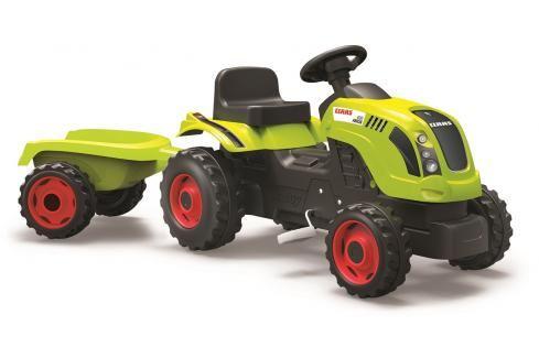SMOBY - Šlapací Traktor Claas Zelený S Vozíkem Dětské motokáry, čtyřkolky, šlapadla,