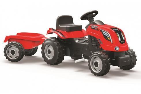 SMOBY - Šlapací traktor Farmer XL červený s vozíkem Dětské motokáry, čtyřkolky, šlapadla,