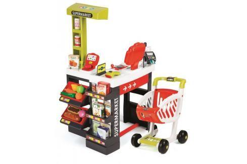 SMOBY - Supermarket červeno-zelený Hrajeme se na profese
