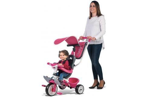 SMOBY - Tříkolka Baby Balade růžovo-šedá 741101 Tříkolky pro děti