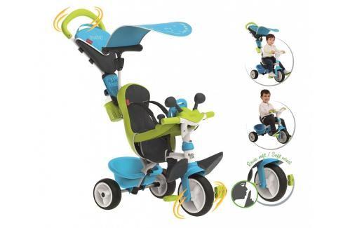 SMOBY - tříkolka Baby Driver Confort modro-zelená 741200 Tříkolky pro děti