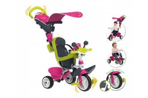 SMOBY - tříkolka Baby Driver Confort růžovo-zelená 741201 Tříkolky pro děti
