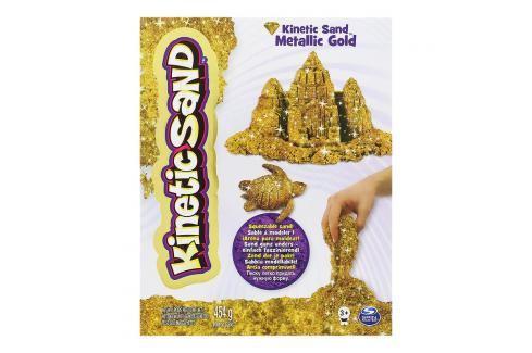 SPIN MASTER - Kinetic Sand Metalický písek zlatý nebo stříbrný 26411 Kreativní a výtvarné hračky