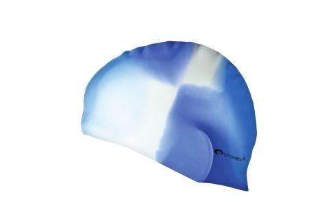 SPOKEY - ABSTRACT-Plavecká čepice silikonová modro -bílá Čepice na koupání
