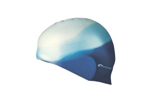 SPOKEY - ABSTRACT-Plavecká čepice silikonová bílá s modrým v zadu Čepice na koupání