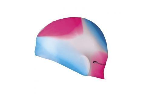 SPOKEY - ABSTRACT-Plavecká čepice silikonová růžovo-modrá Čepice na koupání