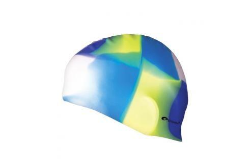 SPOKEY - ABSTRACT-Plavecká čepice silikonová bílo-modro-žluto-fialová Čepice na koupání