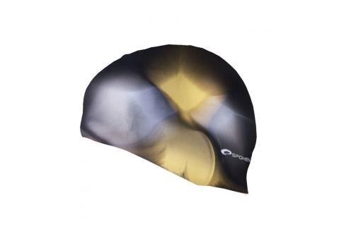 SPOKEY - ABSTRACT-Plavecká čepice silikonová hnědo-žlutá Čepice na koupání